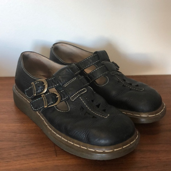 Dr Doc Martens Double Buckle Mary Janes